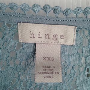 hinge Tops - Hinge eyelet lace top